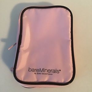 BARE ESCENTUALS: pink travel size cosmetic bag